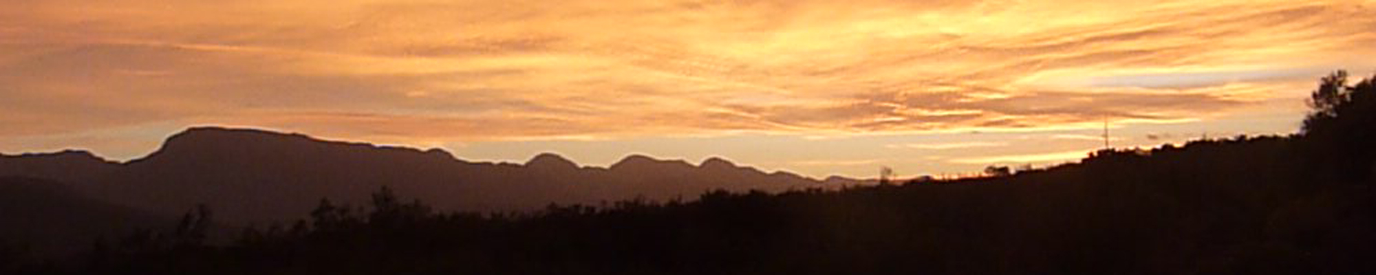 Sun Set near Greaton McGregor trail