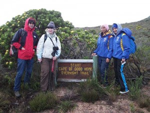 start of Cape of Good Hope Trail