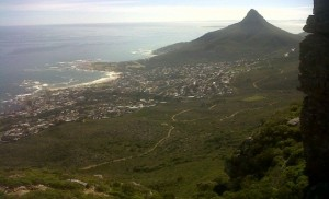 View of Lions head and Camps Bay