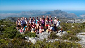 group on top of Table Mountain