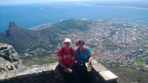 Table Mountain guided trek Top with Caroline & Wim